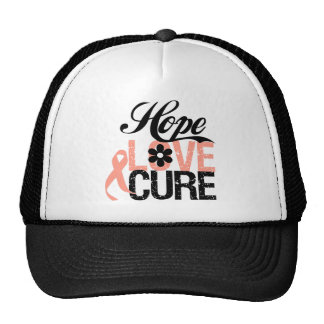 HOPE LOVE CURE Uterine Cancer Gifts Hats