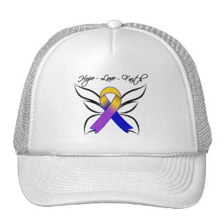 Hope Love Faith Butterfly - Bladder Cancer Trucker Hats