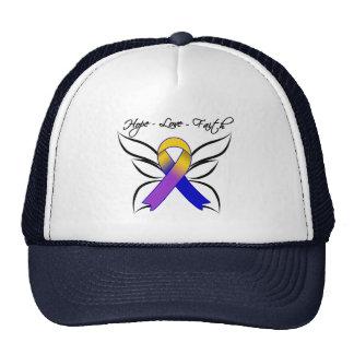 Hope Love Faith Butterfly - Bladder Cancer Hats