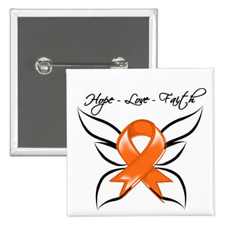 Hope Love Faith Butterfly - Multiple Sclerosis 15 Cm Square Badge