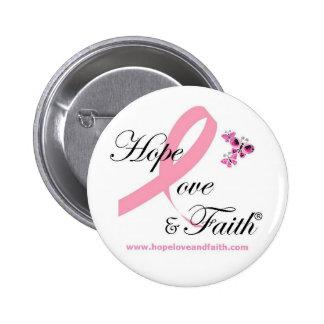 Hope Love & Faith Button