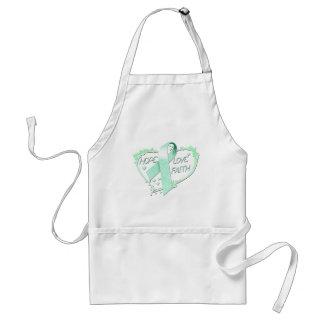 Hope Love Faith Heart (teal) Standard Apron