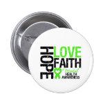 Hope Love Faith Mental Health Awareness 6 Cm Round Badge