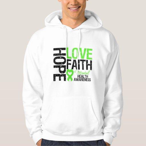 Hope Love Faith Mental Health Awareness Hoodie