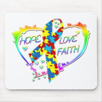Hope Love Faith Mouse Pad