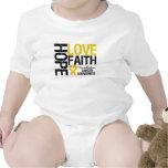 Hope Love Faith Neuroblastoma Bodysuits