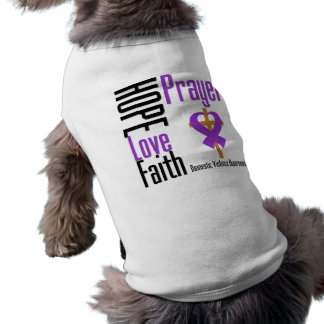 Hope Love Faith Prayer Ribbon Domestic Violence Sleeveless Dog Shirt