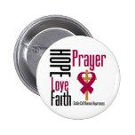 Hope Love Faith Prayer Sickle Cell Anaemia 6 Cm Round Badge