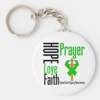 Hope Love Faith Prayer Spinal Cord Injury Keychain