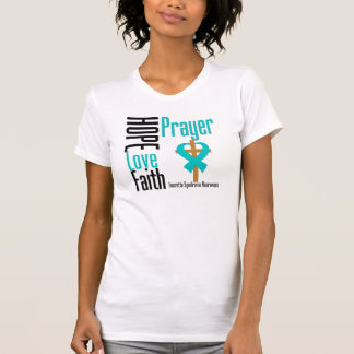 Hope Love Faith Prayer Tourette Syndrome Tee Shirts