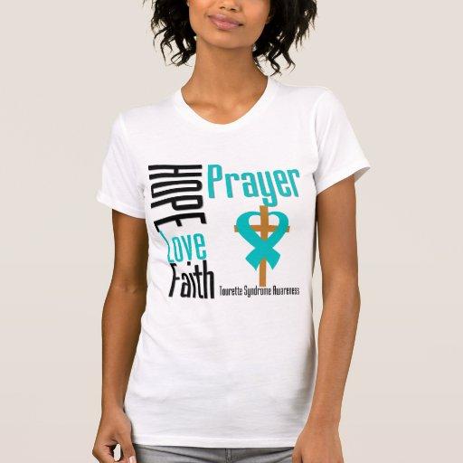 Hope Love Faith Prayer Tourette Syndrome T-shirt