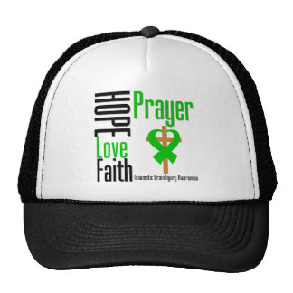 Hope Love Faith Prayer Traumatic Brain Injury Trucker Hat