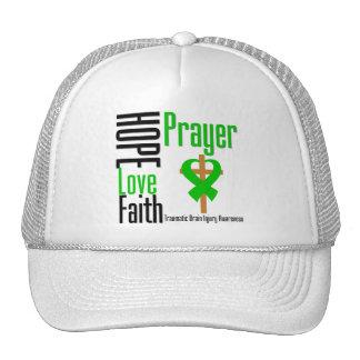 Hope Love Faith Prayer Traumatic Brain Injury Hat