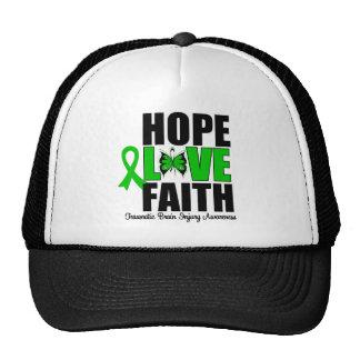 Hope Love Faith Traumatic Brain Injury Trucker Hat
