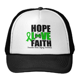 Hope Love Faith Traumatic Brain Injury Mesh Hats