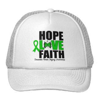 Hope Love Faith Traumatic Brain Injury Hat