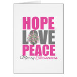 Hope Love Peace Merry Christmas Tree