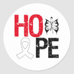 Hope Lung Cancer Awareness Classic Round Sticker