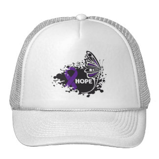 Hope Lupus Butterfly Mesh Hat