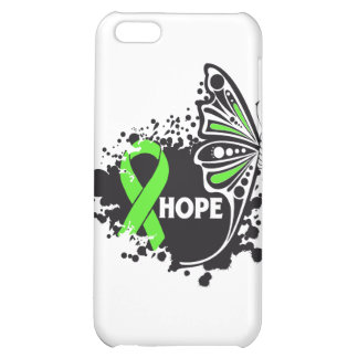 Hope Lyme Disease Butterfly Ribbon iPhone 5C Cases