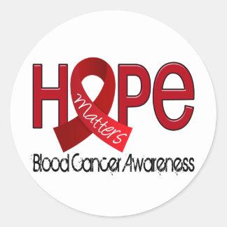 Hope Matters 2 Blood Cancer Round Sticker