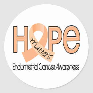 Hope Matters 2 Endometrial Cancer Round Sticker
