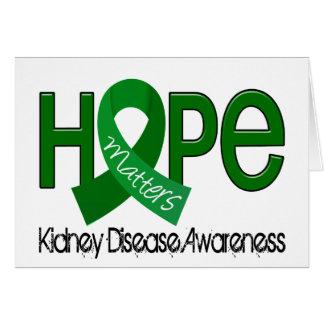 Hope Matters 2 Kidney Disease Greeting Cards