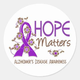 Hope Matters 3 Alzheimer's Disease Classic Round Sticker