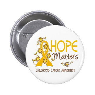 Hope Matters 3 Childhood Cancer 6 Cm Round Badge