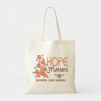 Hope Matters 3 Endometrial Cancer Tote Bag