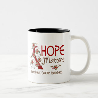 Hope Matters 3 Head Neck Cancer Coffee Mugs