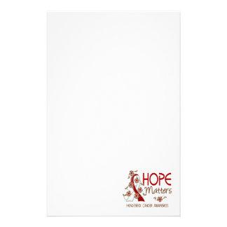 Hope Matters 3 Head Neck Cancer Custom Stationery