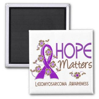Hope Matters 3 Leiomyosarcoma Square Magnet