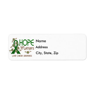 Hope Matters 3 Liver Cancer Return Address Label