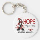 Hope Matters 3 Melanoma Keychains
