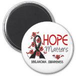 Hope Matters 3 Melanoma Refrigerator Magnets