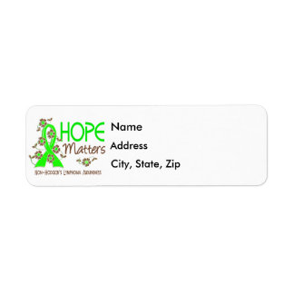 Hope Matters 3 Non-Hodgkin's Lymphoma Return Address Label