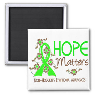 Hope Matters 3 Non-Hodgkin's Lymphoma Square Magnet