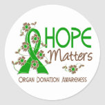 Hope Matters 3 Organ Donation Round Stickers