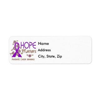 Hope Matters 3 Pancreatic Cancer Return Address Label