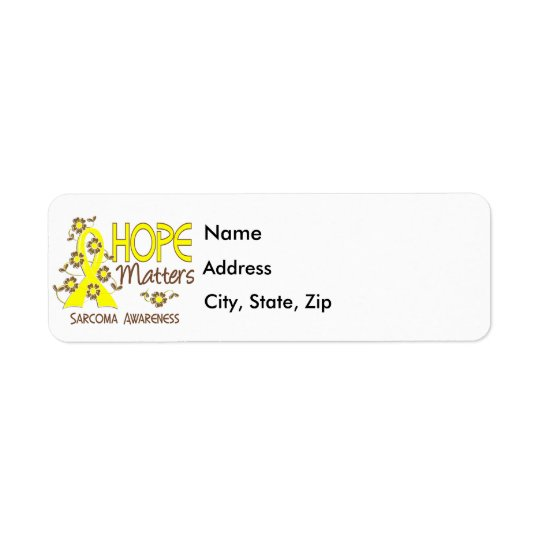 Hope Matters 3 Sarcoma Return Address Label