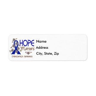 Hope Matters 3 Syringomyelia Return Address Label