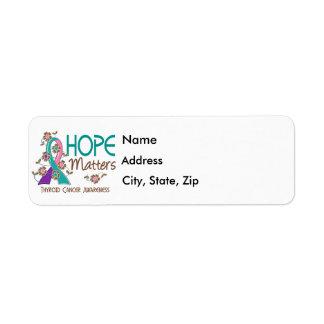 Hope Matters 3 Thyroid Cancer Return Address Label