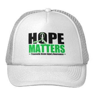 Hope Matters Brush Ribbon Traumatic Brain Injury Hats