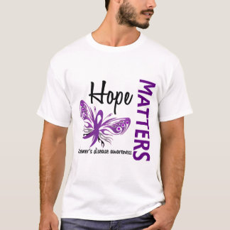 Hope Matters Butterfly Alzheimer's Disease T-Shirt