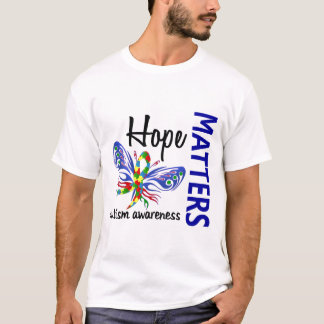 Hope Matters Butterfly Autism T-Shirt