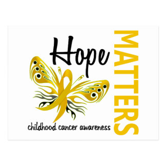 Hope Matters Butterfly Childhood Cancer Postcard