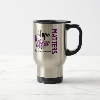 Hope Matters Butterfly Crohn's Disease Stainless Steel Travel Mug