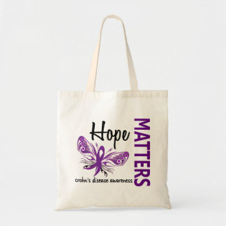 Hope Matters Butterfly Crohn's Disease Budget Tote Bag