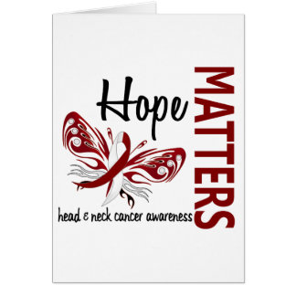 Hope Matters Butterfly Head And Neck Cancer Greeting Card